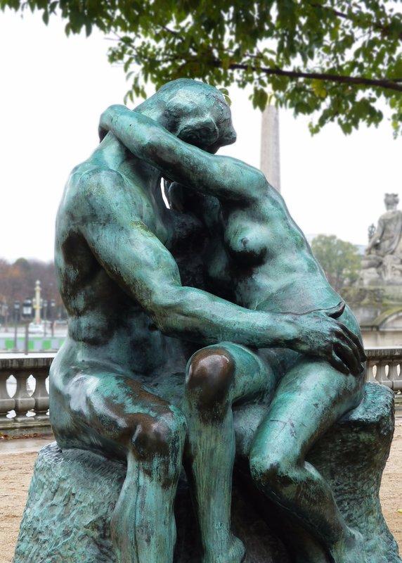 Rodin's Kiss, outside the Musée de l'Orangerie