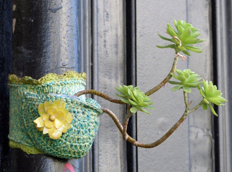 Plant holder,  la Butte-aux-Cailles