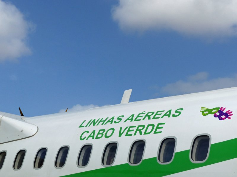Our plane at Sal Airport