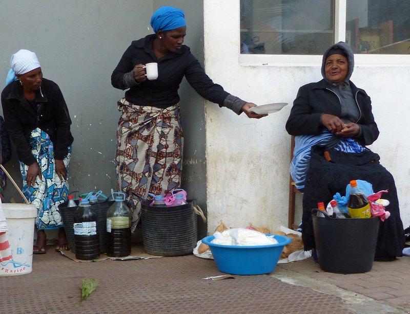 Outside Assomada market