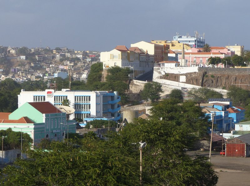 View of Praia from the Hotel Perola in Praia