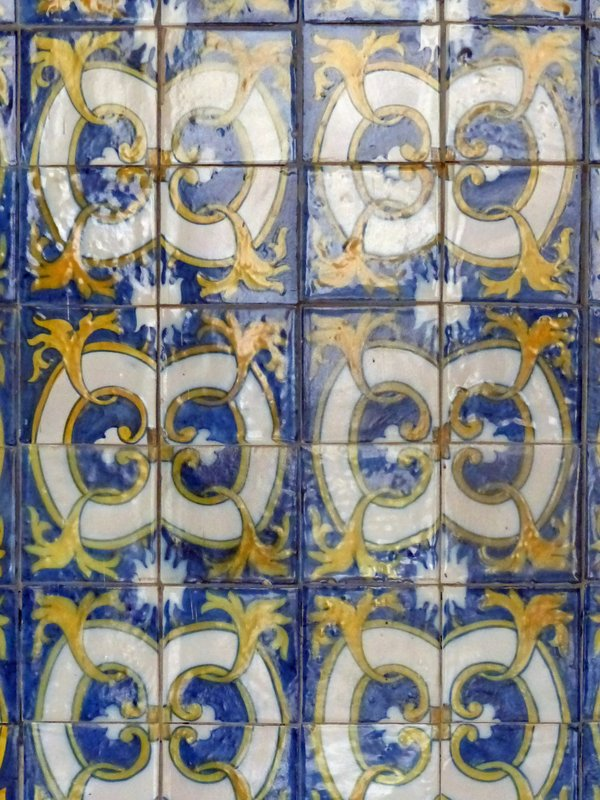Tiles in Sao Francisco, Cidade Velha, Santiago, Cape Verde