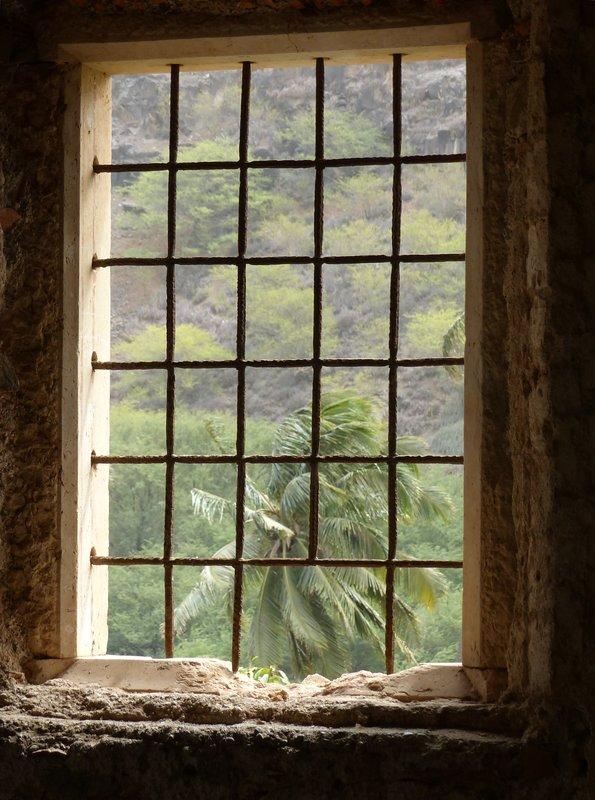 Window detail, Sao Francisco, Cidade Velha, Santiago, Cape Verde