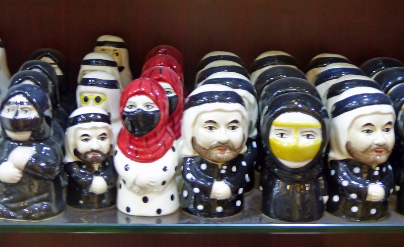 Salt and pepper pots in the souk
