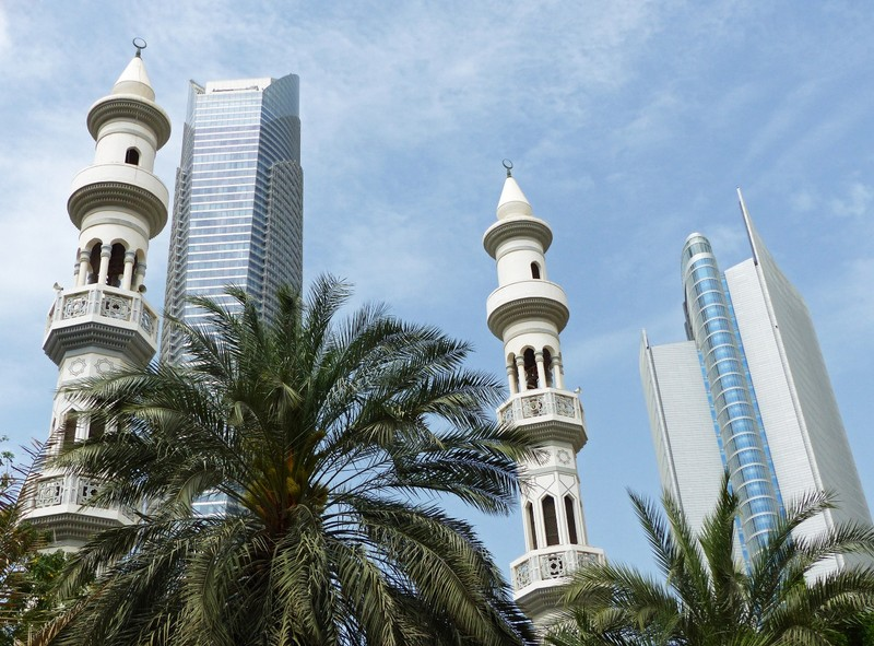 Tower blocks and minarets, Abu Dhabi