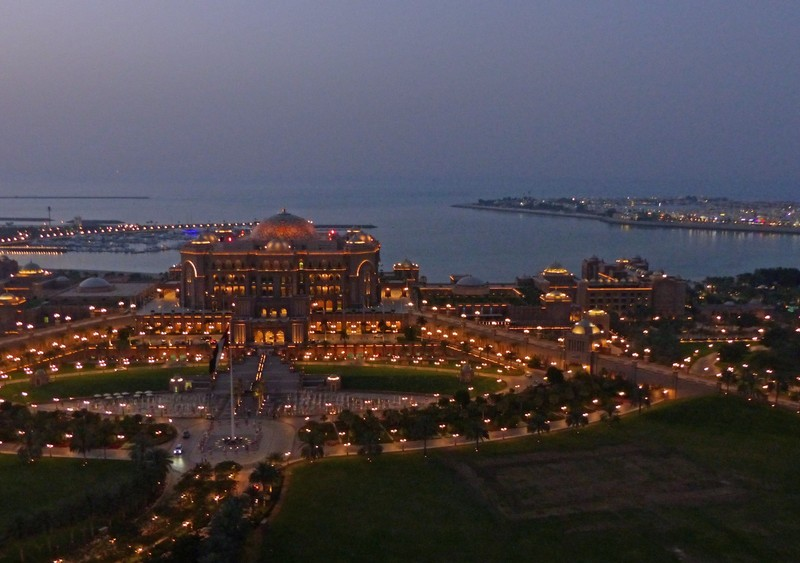 Emirates Palace Hotel at night