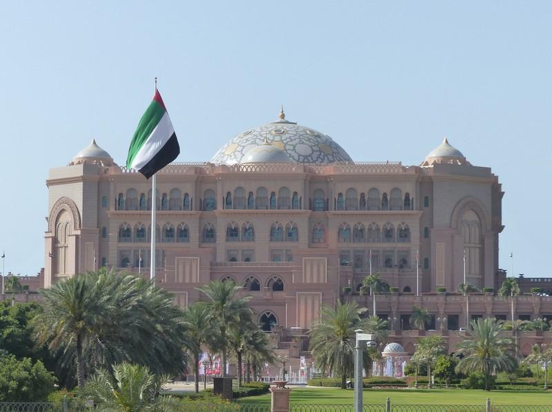 Emirates Palace hotel from the Bab al Qasr hotel