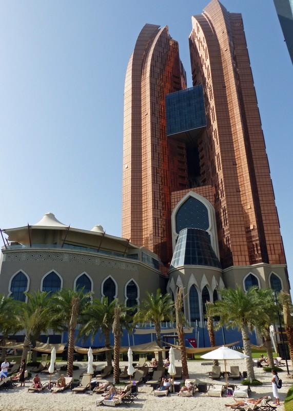 Bab al Qasr hotel from the beach