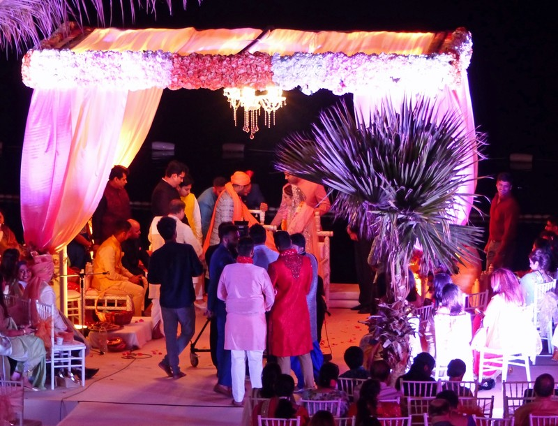 Indian wedding at the Jumeirah hotel