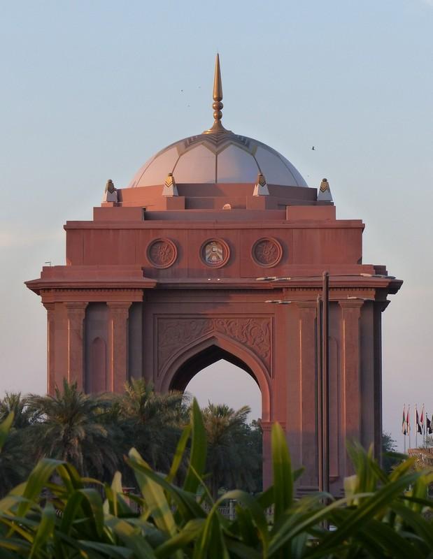 Gate of the Emirates Palace hotel, Abu Dhabi