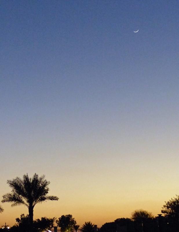 Moon over Abu Dhabi