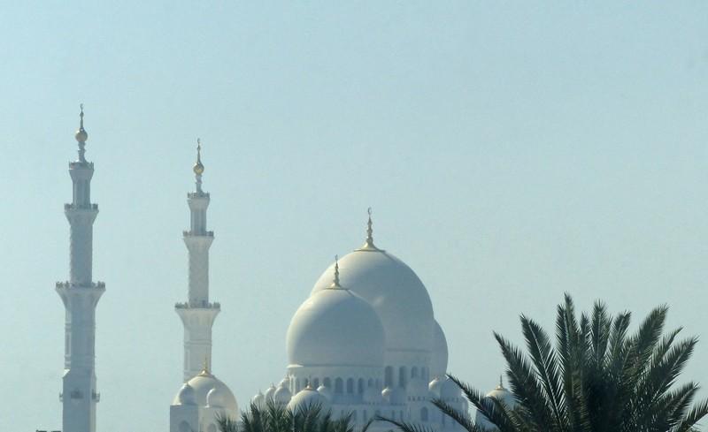 Grand Mosque, Abu Dhabi, from Khalifa Park Library