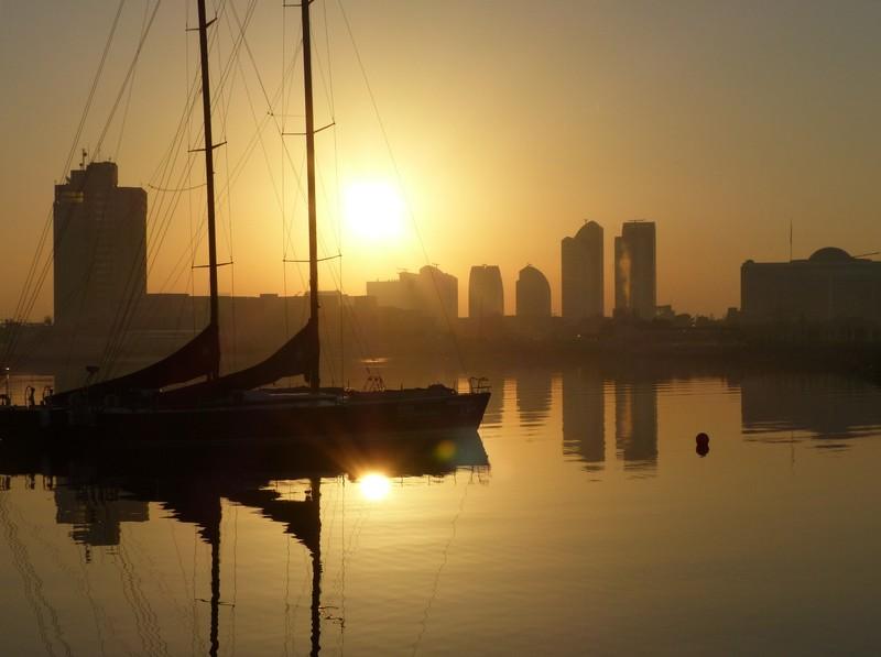 Abu Dhabi sunrise, Bab al Qasr hotel