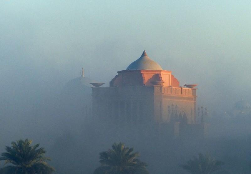 Misty morning in Abu Dhabi