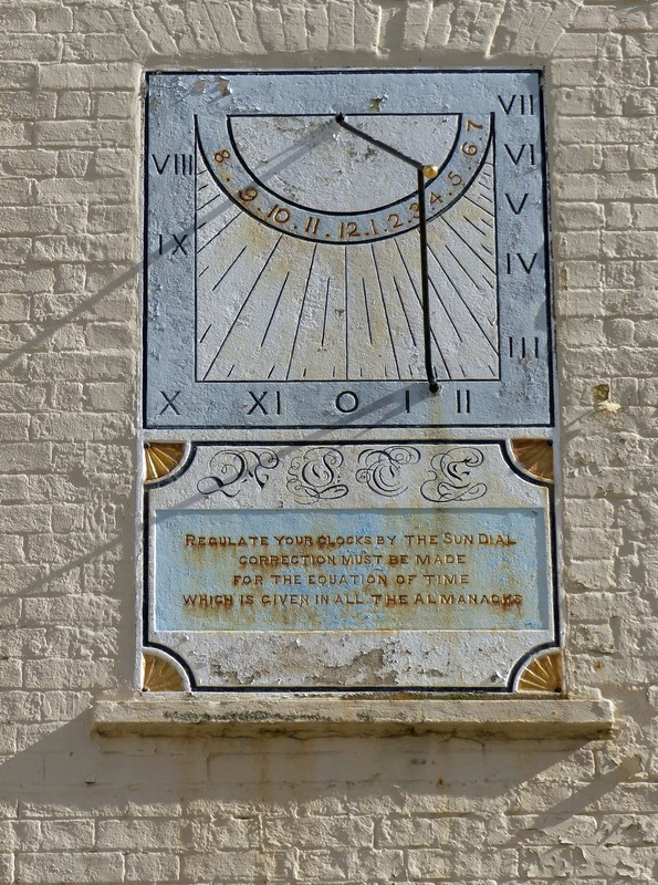 Sundial on the old police HQ, St Helier