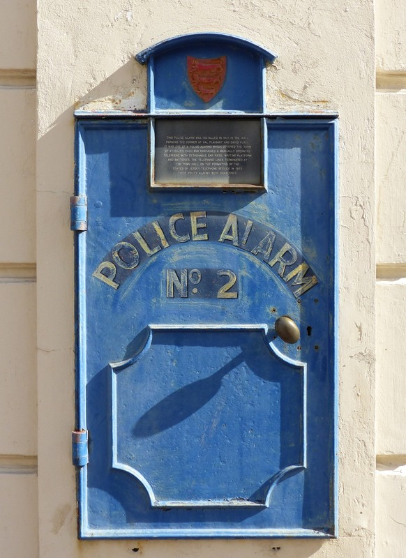 Police alarm on the old police HQ, St Helier