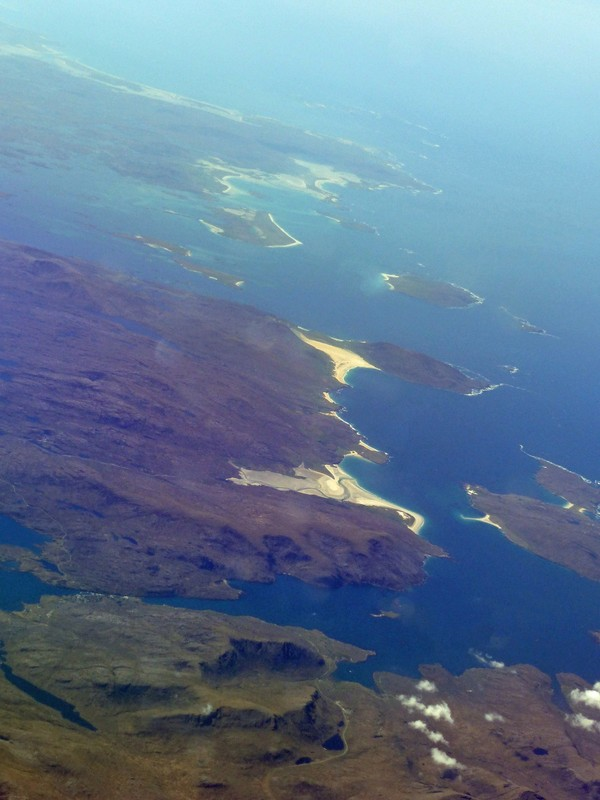 Flying over the Outer Hebrides