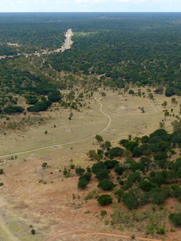 Descending towards Kasane Airport, Botswana