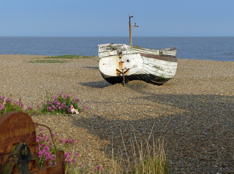 On the beach at Aldeburgh