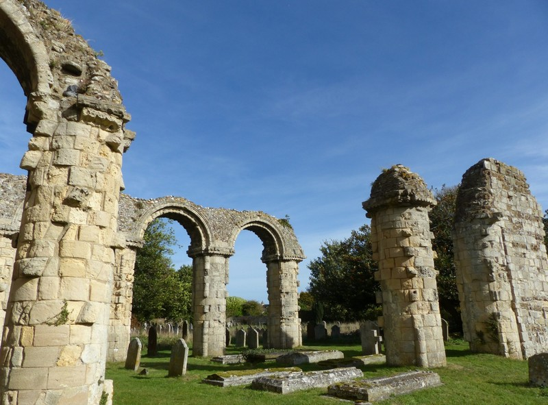 Ruins at St Bartholomew's church, Orford