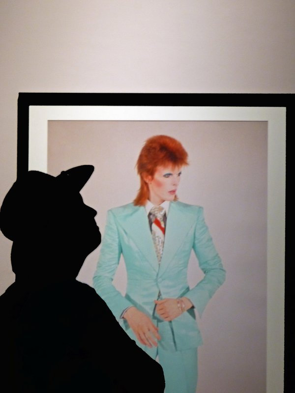 At the David Bowie exhibition, MoPop, Seattle
