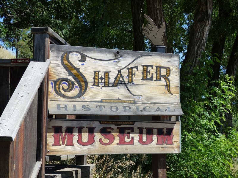 Shafer Museum sign, Winthrop WA