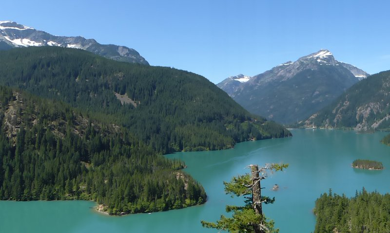 View from Diablo Lake overlook, N Cascades NP