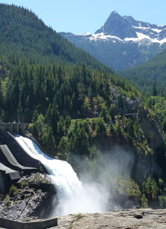 Sluice at Diablo Lake dam, N Cascades NP