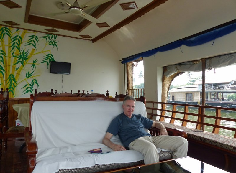 Seating area on our boat