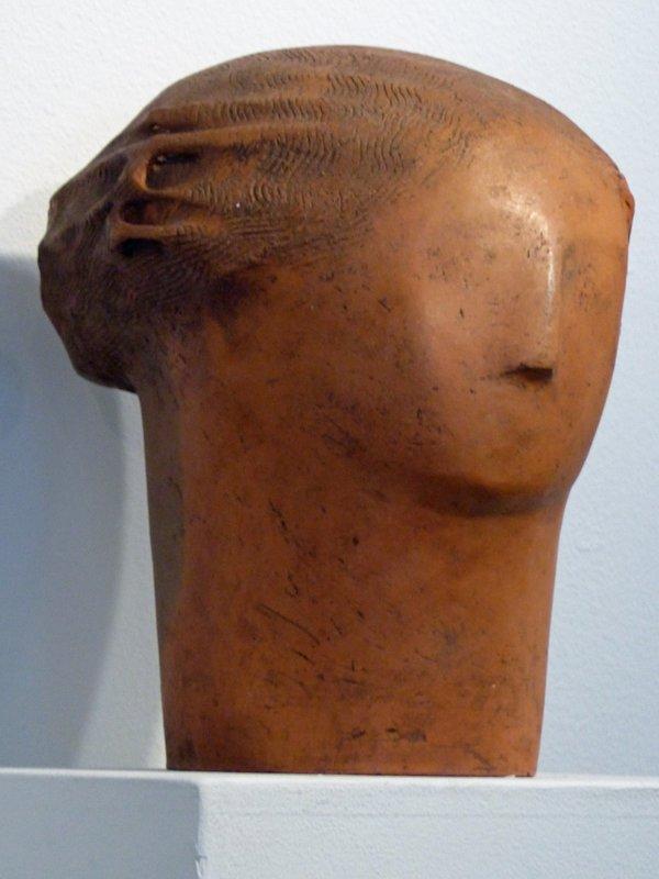 Sculpture by Clayton James, Museum of Northwest Art, La Conner