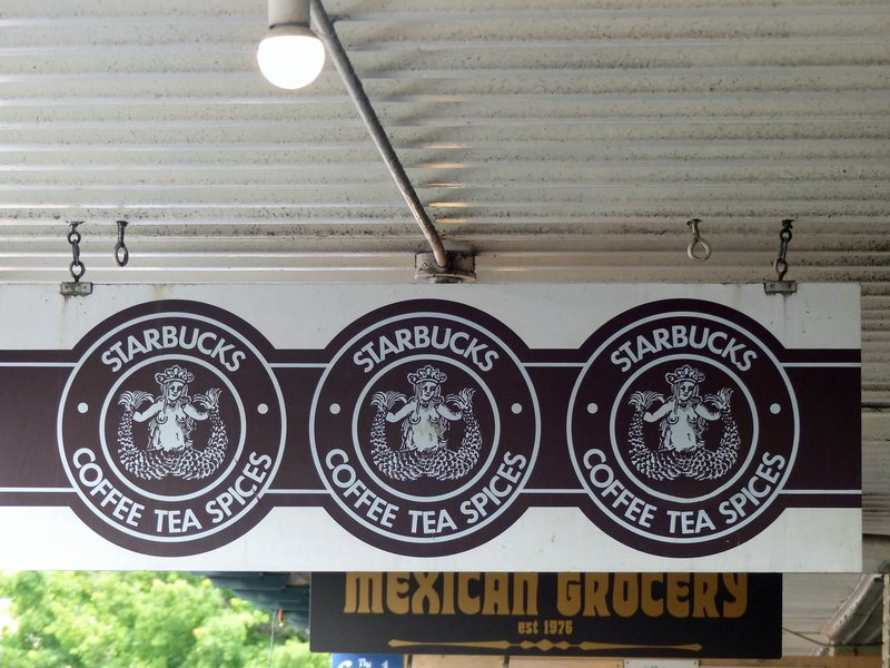 Original Starbucks' signs, Pike Place Market