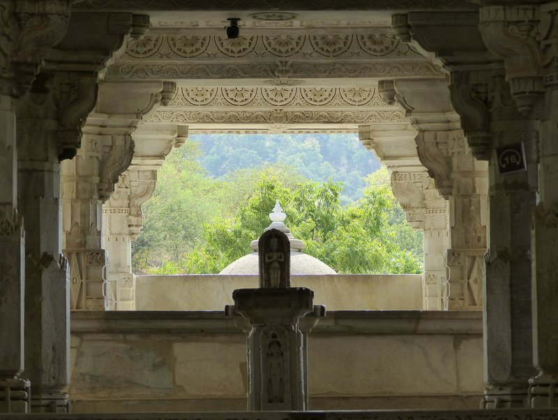 Looking out from the temple