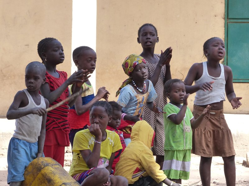 Village children, Albreda, The Gambia