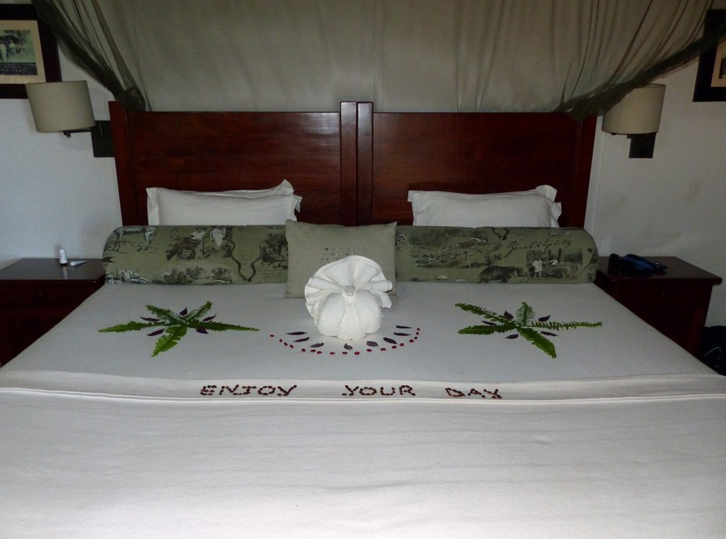 Our room at Xugana Island Lodge, Okavango Delta