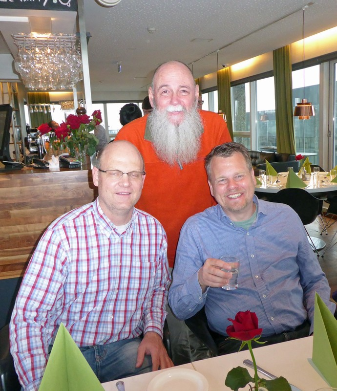 At our final dinner - Holger, Martin and Allan