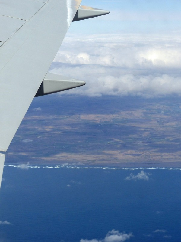 Flying in over the south coast of Iceland