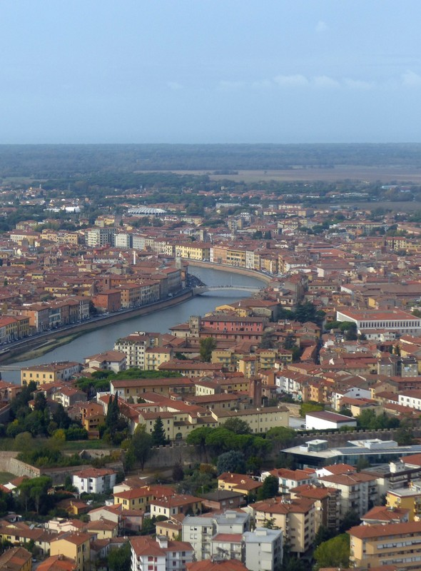 Pisa from the air
