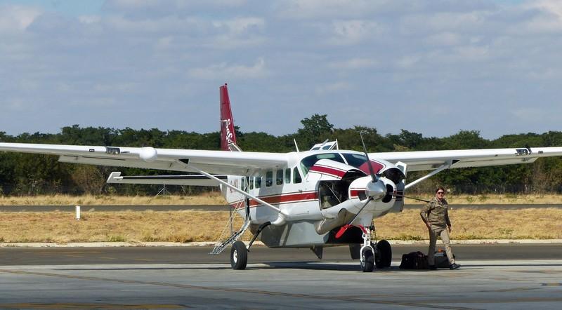 Our plane to the Okavango, Kasane Airport