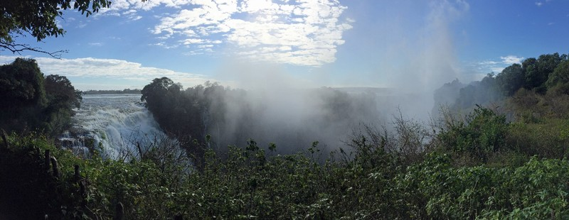 Spray at Victoria Falls