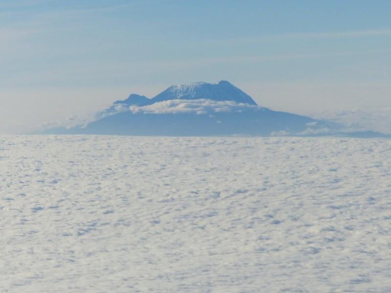 Mount Kilimanjaro from the plane