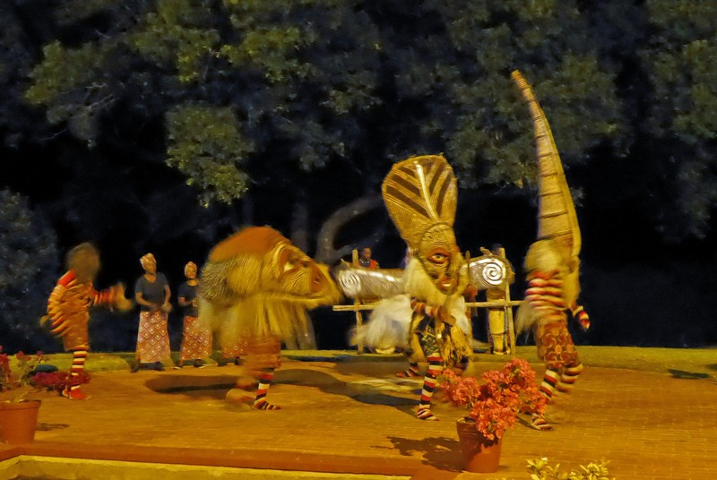 Evening entertainment at the Victoria Falls Hotel
