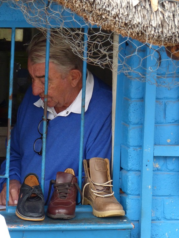 Shoe repair shop, Victoria Falls, Zimbabwe