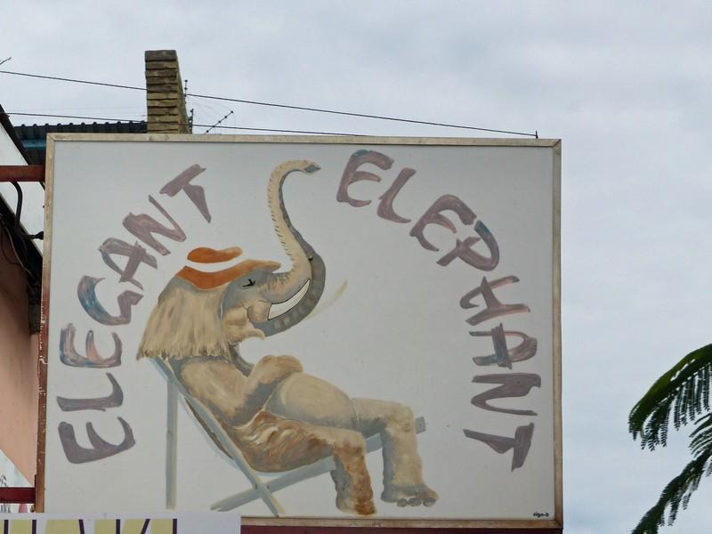 Shop sign, Victoria Falls, Zimbabwe
