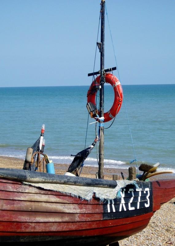 Boat on Hastings Beach