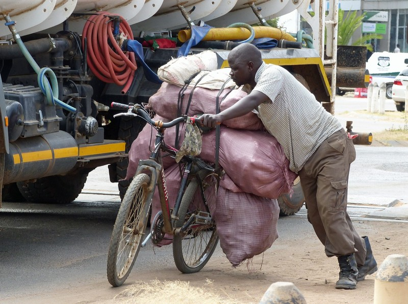 Zambian vendor, Victoria Falls, Zimbabwe