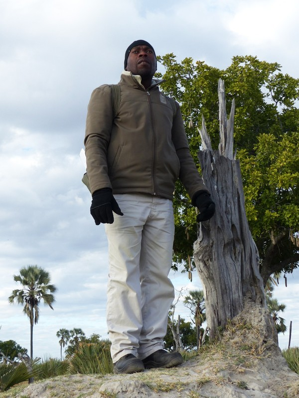 Bones, a guide at Xugana Island Lodge, on Palm Island, Okavango Delta