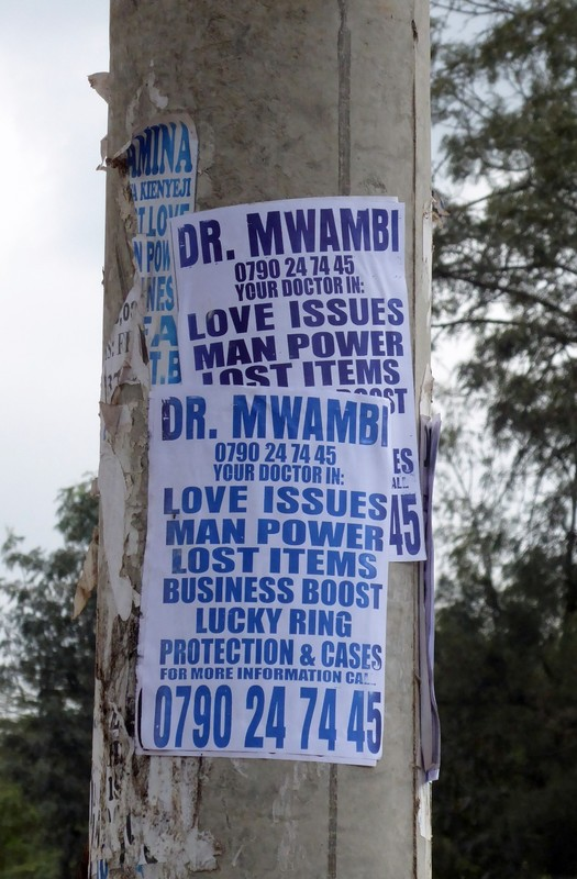 Sign on Kenyatta Avenue, Nairobi