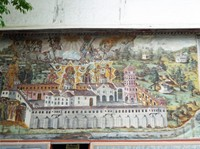 Panorama fresco at Bachkovo Monastery