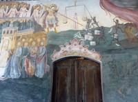 Doomsday fresco on the church of St. Nicholas, Bachkovo Monastery