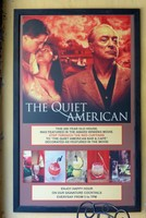 Poster outside the 'Quiet American' Bar, Hoi An